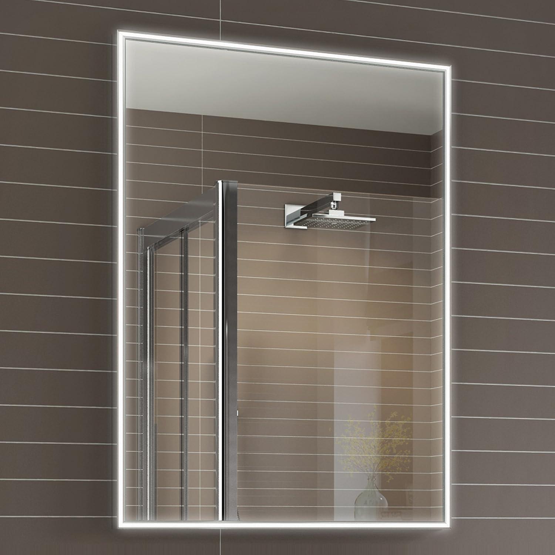 Bathroom Mirror Demister 600 X 800 Mm Designer Illuminated Led Bathroom Mirror Light Sensor