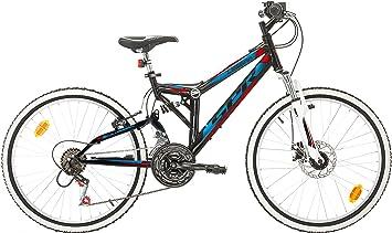 Bicicleta VTT «LEGEND/SPR» de 24 pulgadas con suspensión completa y freno de disco para hombre: Amazon.es: Deportes y aire libre