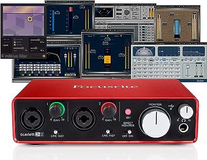 Focusrite Scarlett 2i2 (2ª generación) interfaz de audio USB + Waves Musicians 2 + iZotope Mobius Filtro Bundle (Enewed): Amazon.es: Instrumentos musicales