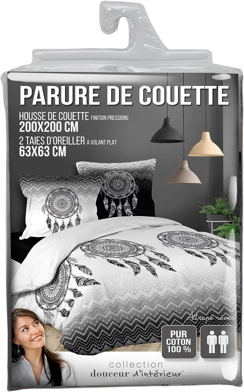 douceur dint/érieur parure 3 pi/èces 260x240 cm porte bonheur