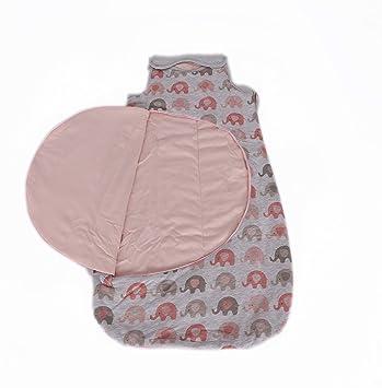 Schlummersack Ganzjahres Babyschlafsack Elefanten pink//grau  2.5 Tog versch Gr.