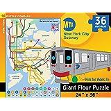 New York Puzzle Company - New York City Transit MTA Subway Kids - 36 Piece Jigsaw Puzzle
