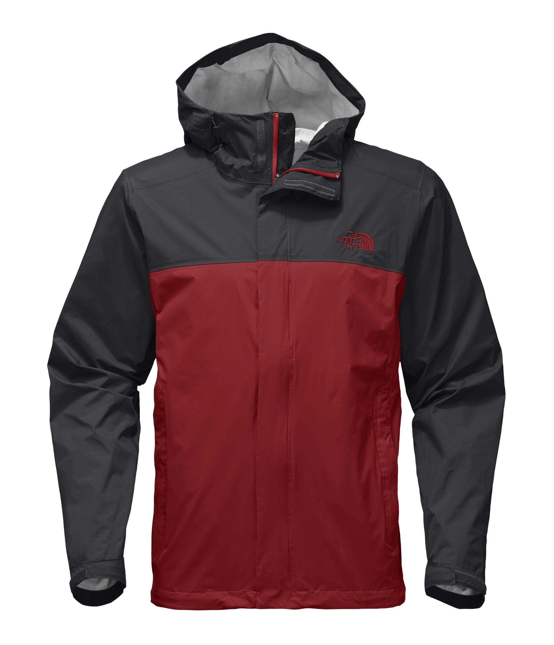 The North Face Men's Venture 2 Jacket - Cardinal Red and Asphalt Grey - XXL