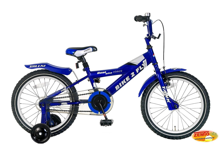 Plezier Jungenfahrrad 18 Zoll Bike 2 Fly Blau