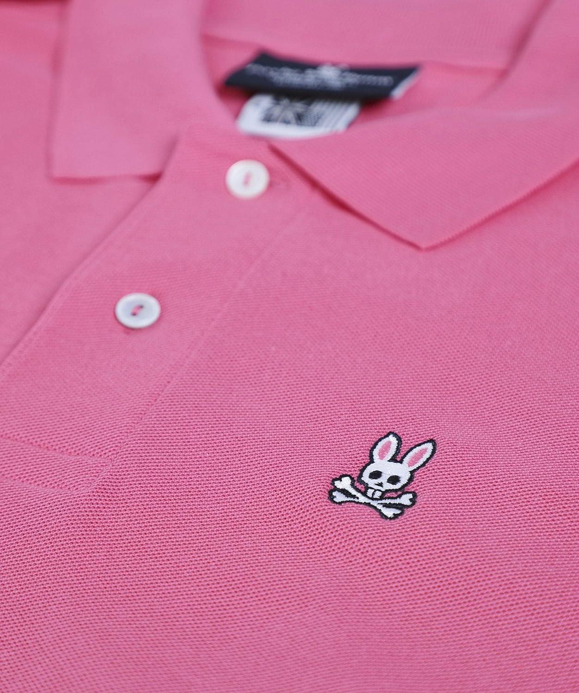 Psycho Bunny Men's Pima Cotton Classic Polo Shirt Pink Pink
