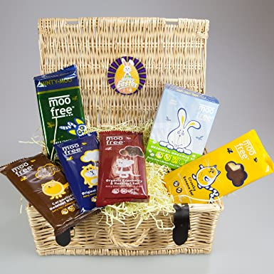 Moo free hamper basket by moreton gifts dairy free easter moo free hamper basket by moreton gifts dairy free easter egg and large negle Gallery