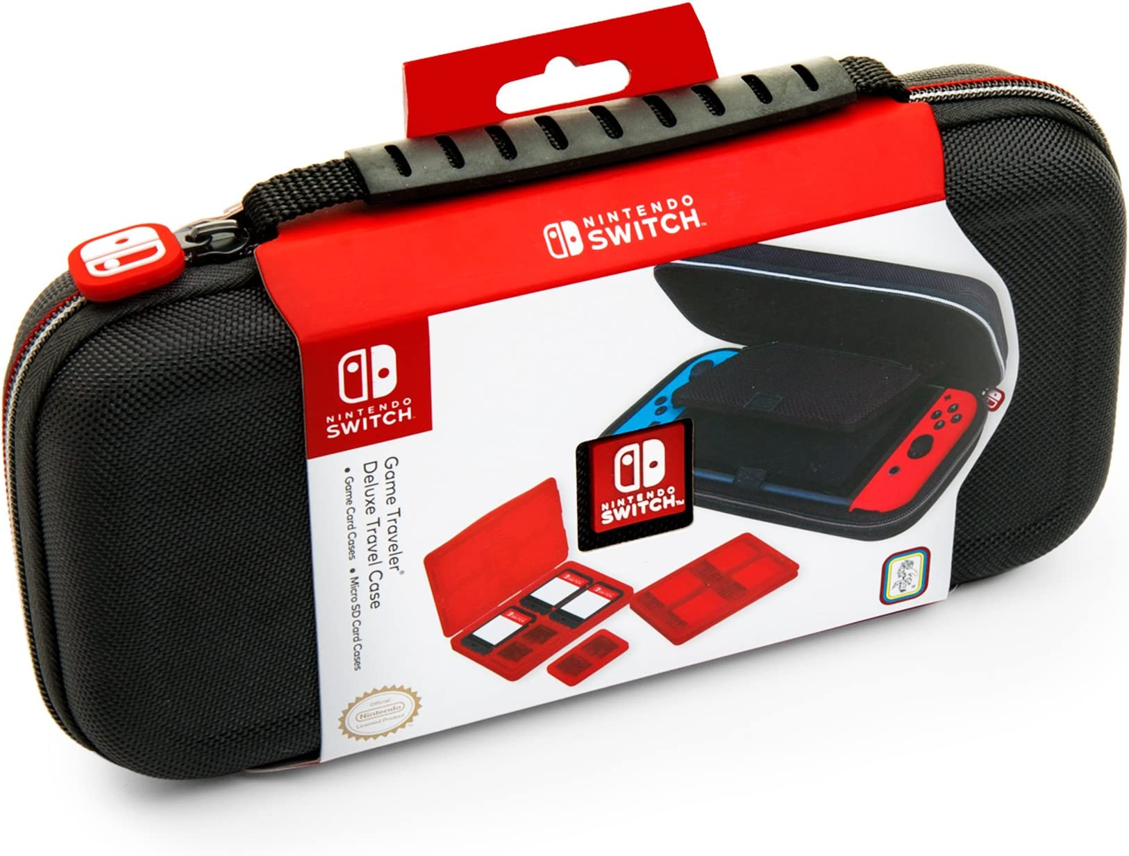 Nintendo Switch Deluxe Travel Case   Premium Hard Case Made With Ballistic Nylon, Secure Tight Fit For Your Switch And Games. Designed To Protect Switch's Analog Sticks. Bonus: Two Multi Game Cases by Rds Industries, Inc