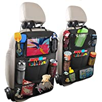Hossom Autorugleuningbeschermer, 2 stuks auto-achterbank-organizer voor kinderen, kick-mat-bescherming voor autostoel…