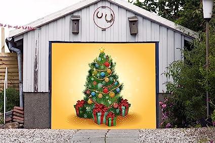 billboard christmas tree single garage door covers merry christmas full color holiday door decor decorations of