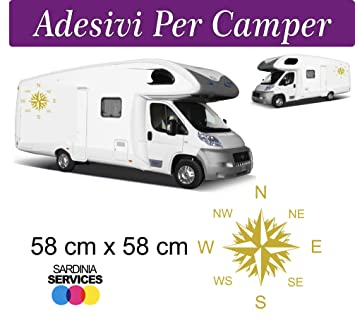 classic style latest design good Amazon.fr : 2 Autocollants pour Camping-Car-rose des vents ...