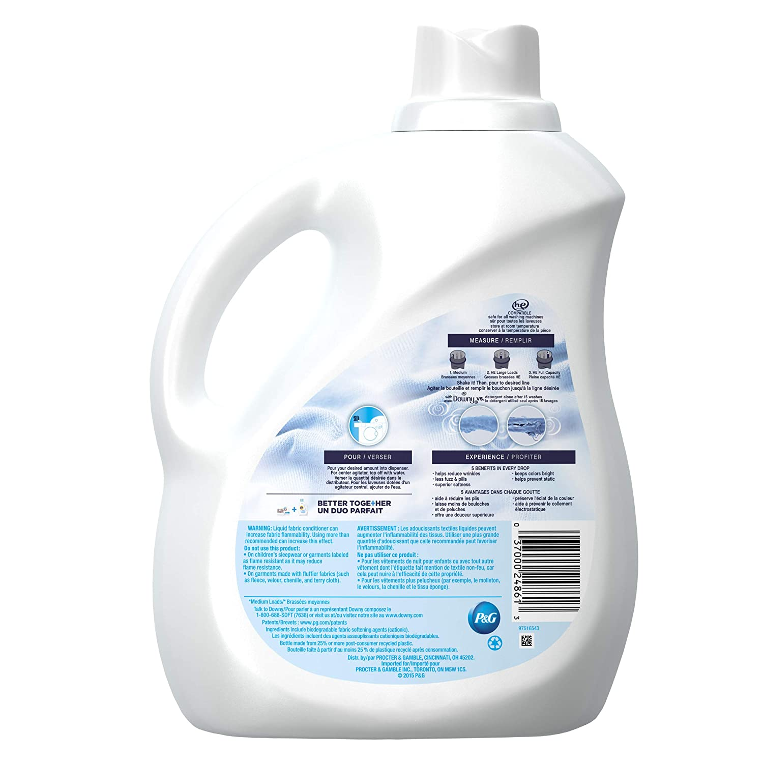 Downy Ultra Free & Gentle Liquid Fabric Conditioner (Fabric Softener), 120 Loads, 103 fl oz (Packaging May Vary): Prime Pantry
