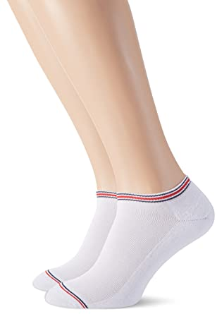 35c323b36 Tommy Hilfiger Men's 2-Pack Iconic Sports Trainer Socks, White Small/Medium