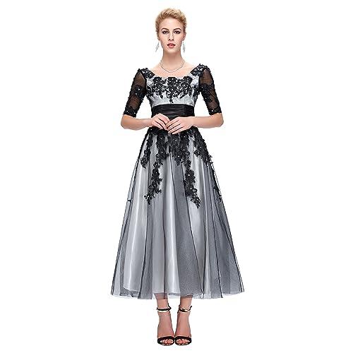 Yafex Womens Empire Evening Dress 22 Black