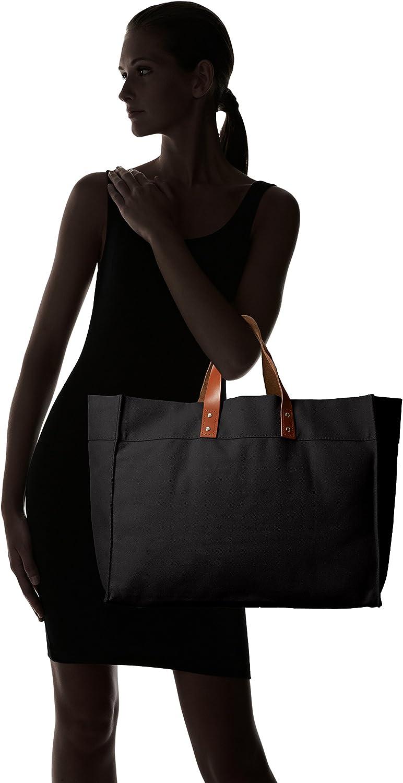 Rhombus Canvas Manhattan Tote Bag One Size Black