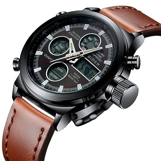 dc1462c337f3 Relojes Deportivo para Hombre Reloj Digital Militar Resistente al Agua para  Hombres Relojes Casuales Multifuncionales del Cronómetro de La Alarma de  Los ...