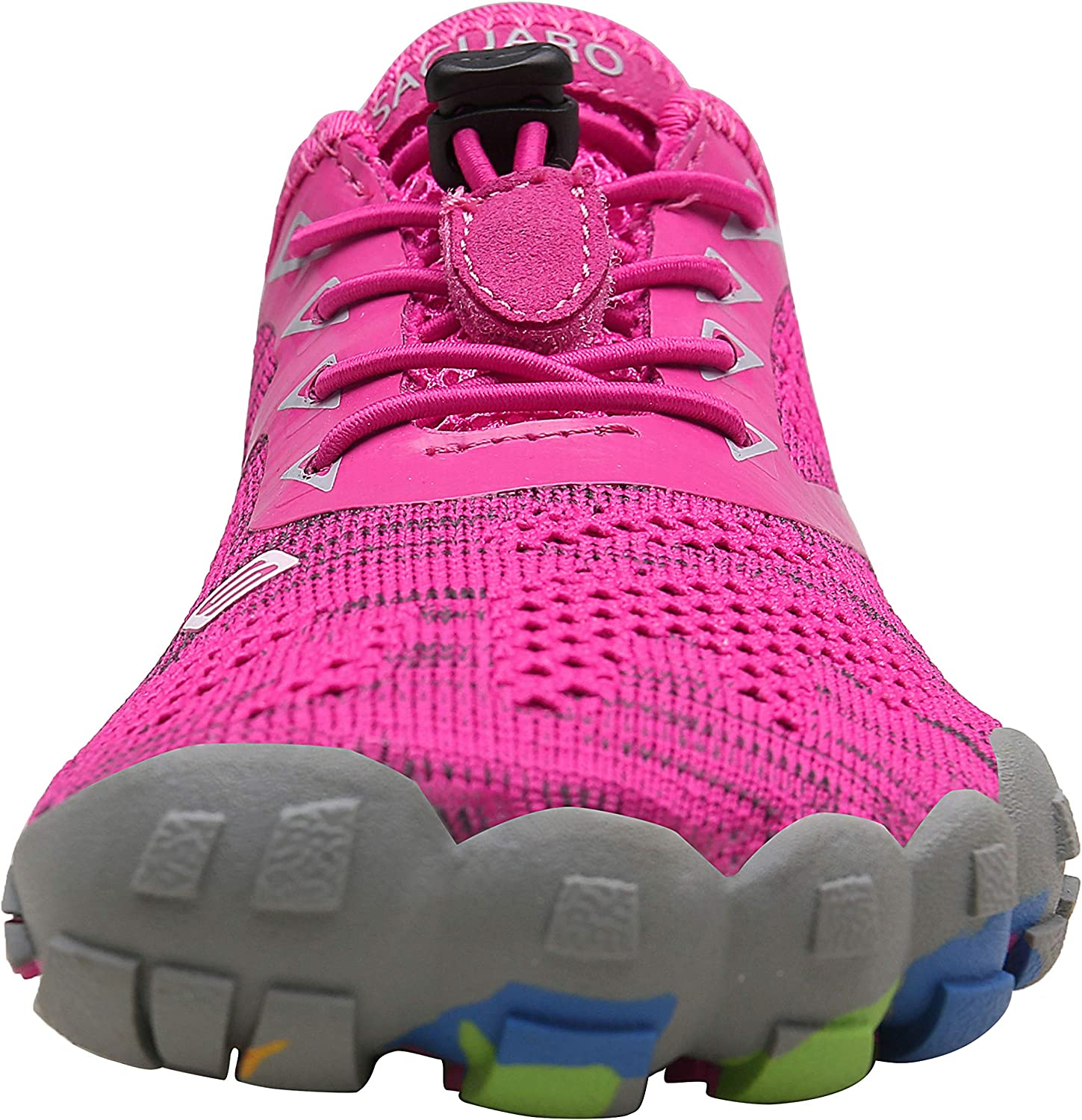 SAGUARO Chaussures Minimalistes Hommes Femmes Chaussures de Fitness Trail Running 36-47 Tricot Rose Rouge
