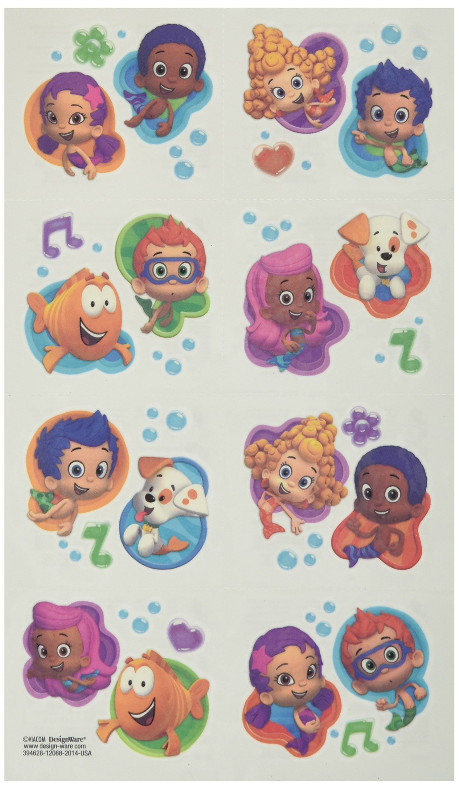 amscan Tattoo Favors | Bubble Guppies Collection | Party Accessory | 192 Ct.