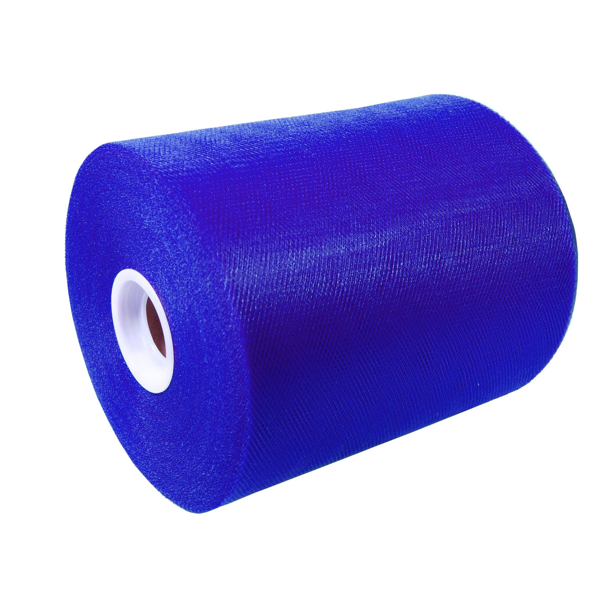Craft and Party, 6'' by 200 yards (600 ft) fabric tulle spool for wedding and decoration. Value pack. (Royal Blue)