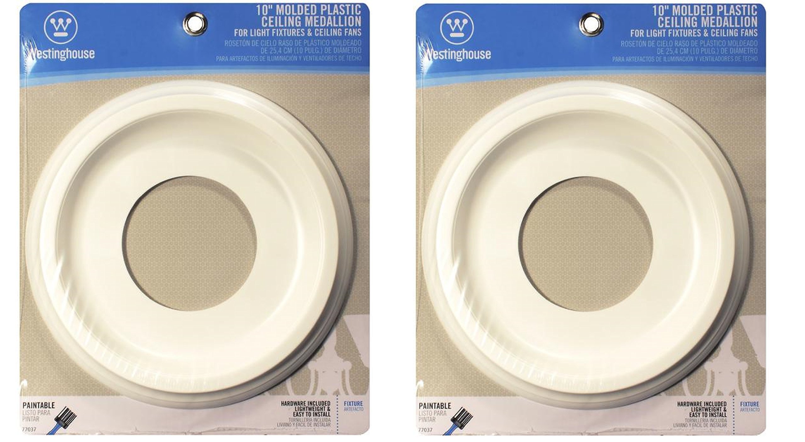 Contempo Wood Look Fan Rosettes (2 Pack)