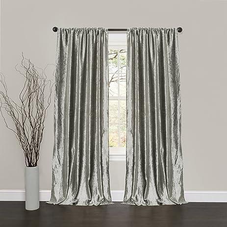 Silver Grey Velvet Curtain 52 X 84 Inch, Velvet Curtain Pair 84, Velvet  Curtains