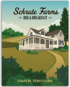 The Office Dwight Schrute Poster Print - Schrute Farms Bed And Breakfast - 11x14 UNFRAMED Wall Art - Great Gift For Fans Of The Office TV Show