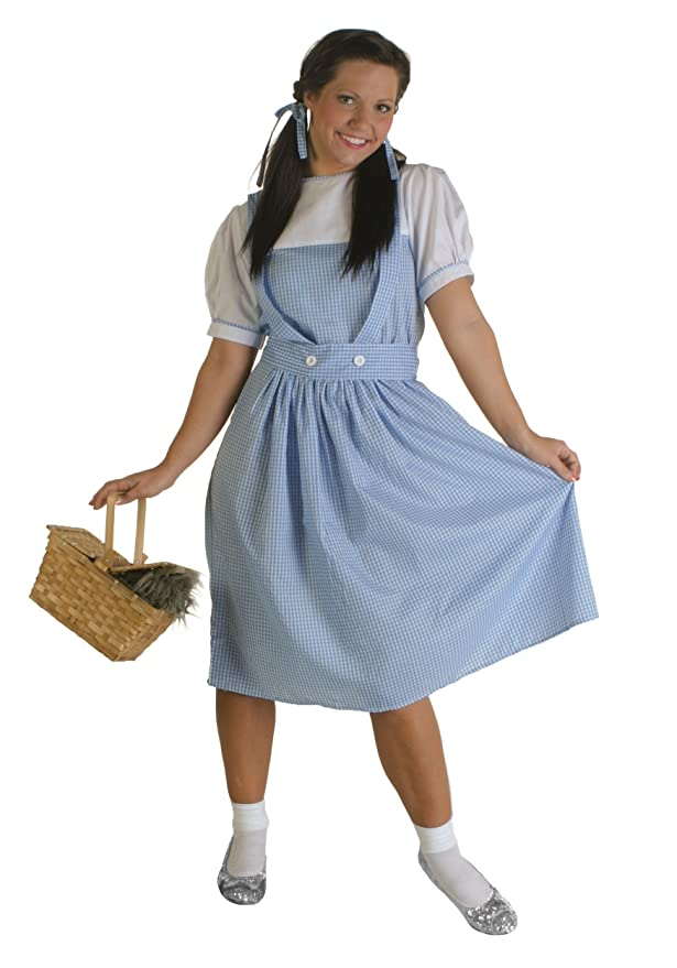 1940s Costumes- WW2, Nurse, Pinup, Rosie the Riveter Fun Costumes womens Dorothy Plus Size Costume $39.99 AT vintagedancer.com