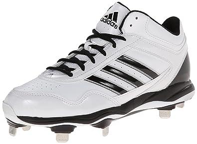 adidas Performance Men\u0027s Excelsior Pro Metal Mid Baseball Cleat, FTWR  White/Black/Metallic