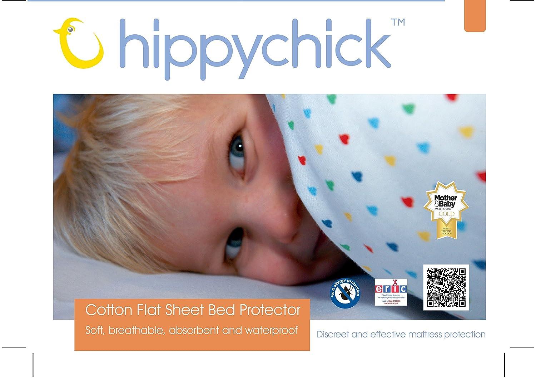 Hippychick Mattress Protector Flat Sheet, 200 x 150 cm - Double, White HCBPL