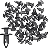 amazon car retainer clips auto push pin rivet clips trim panel Quick Lock Fasteners candyhome 100 pcs 8mm nylon bumper fasteners fender rivet clips automotive clips and fasteners car bumper