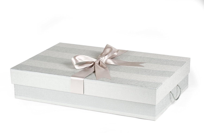 Caja para Vestido de Novia Estándar Tradicional 50 x 75 x 15 cm (profundidad), MAYFAIR STRIPE: Amazon.es: Hogar