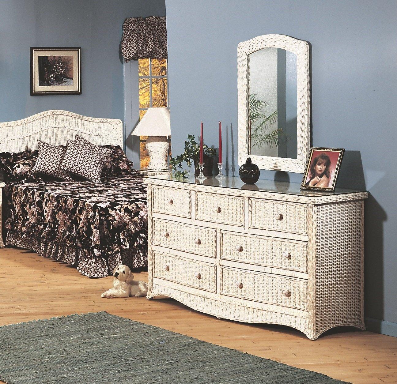 Amazon.com: Mimbre Town & Country 7 Cajón Dresser: Kitchen ...