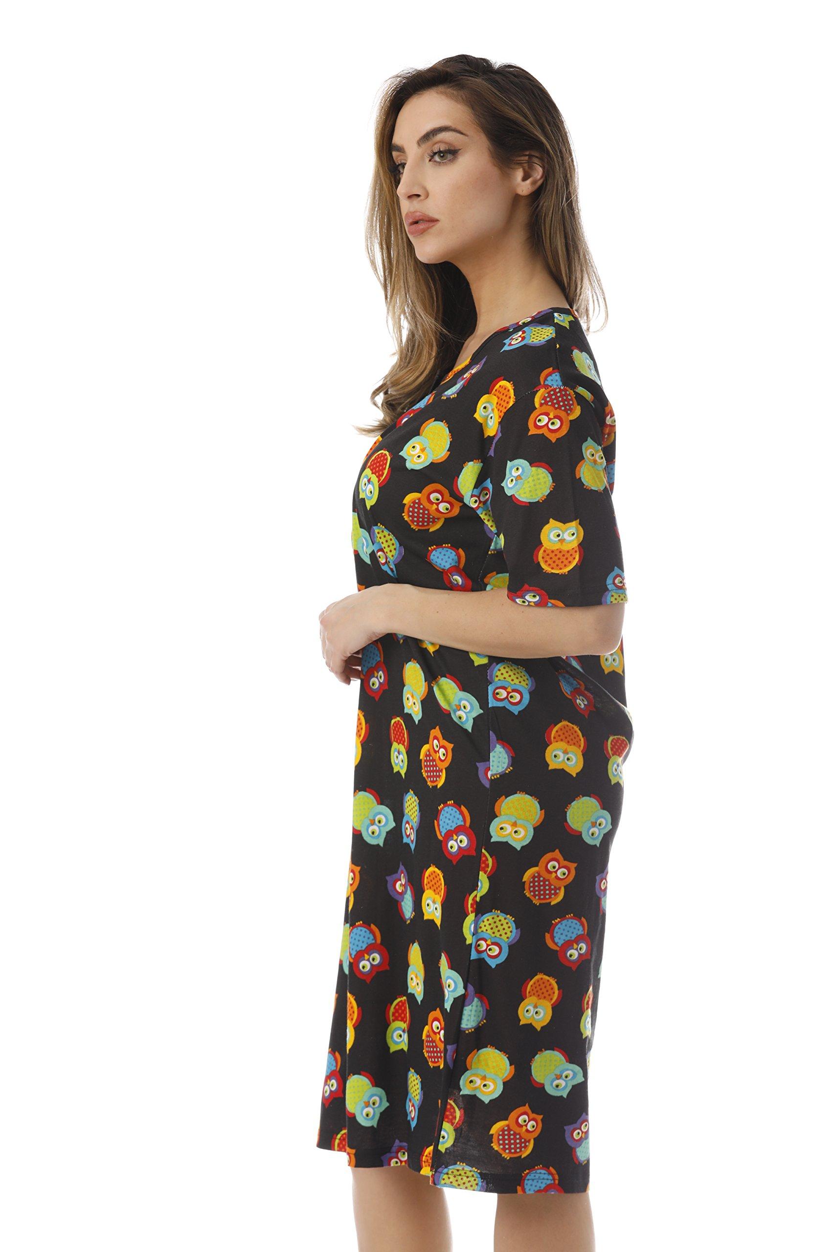 Just Love Short Sleeve Nightgown Sleep Dress for Women Sleepwear 4360-10292-3X by Just Love (Image #2)