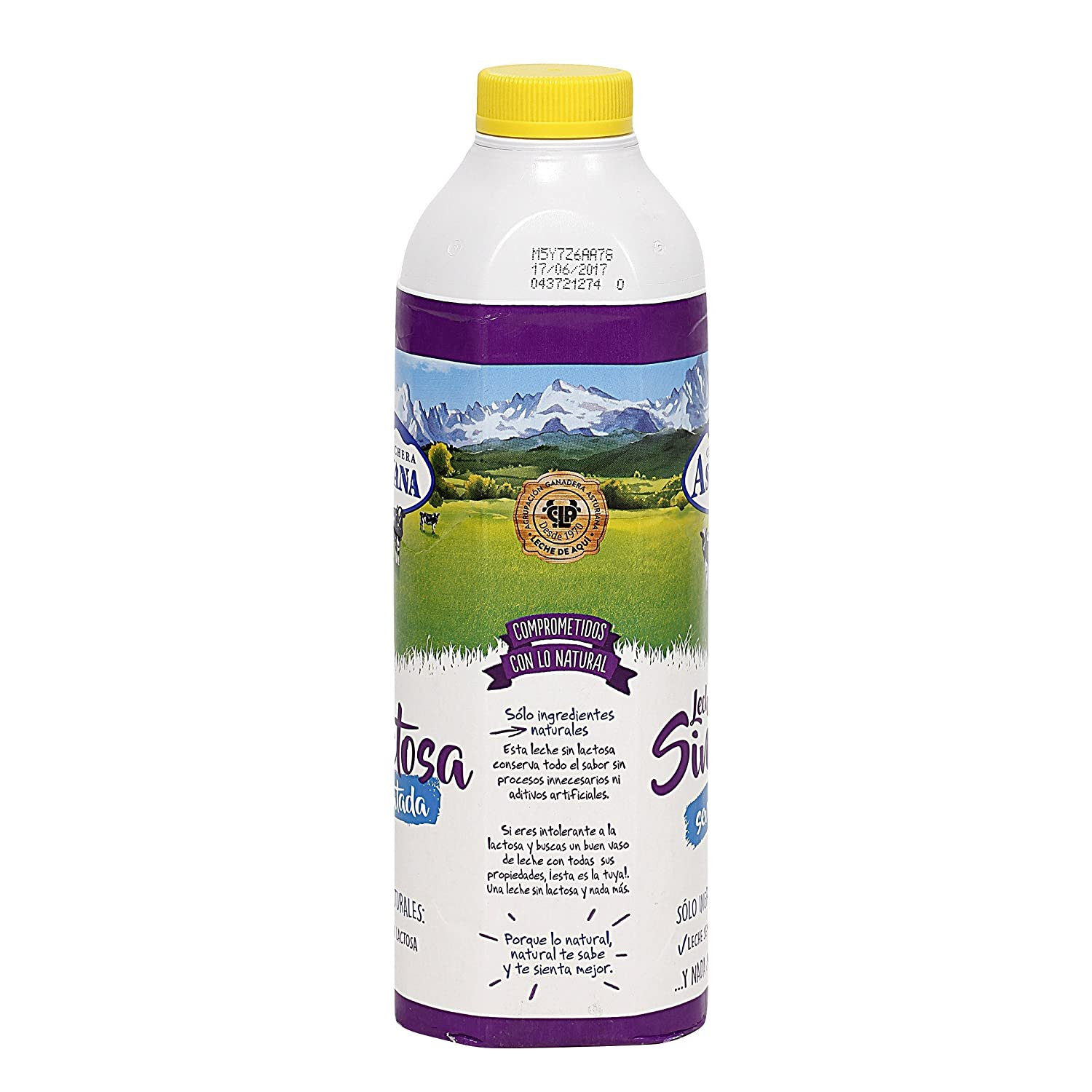 Central Lechera Asturiana Leche Natural - 1000 ml: Amazon.es: Alimentación y bebidas