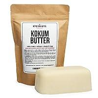 Kokum Butter - Light, Firm Butter, Use to Make Soap, Lotion Bars, Lip Balm, Body Butter - Scent-Free - 16 oz by Better Shea Butter