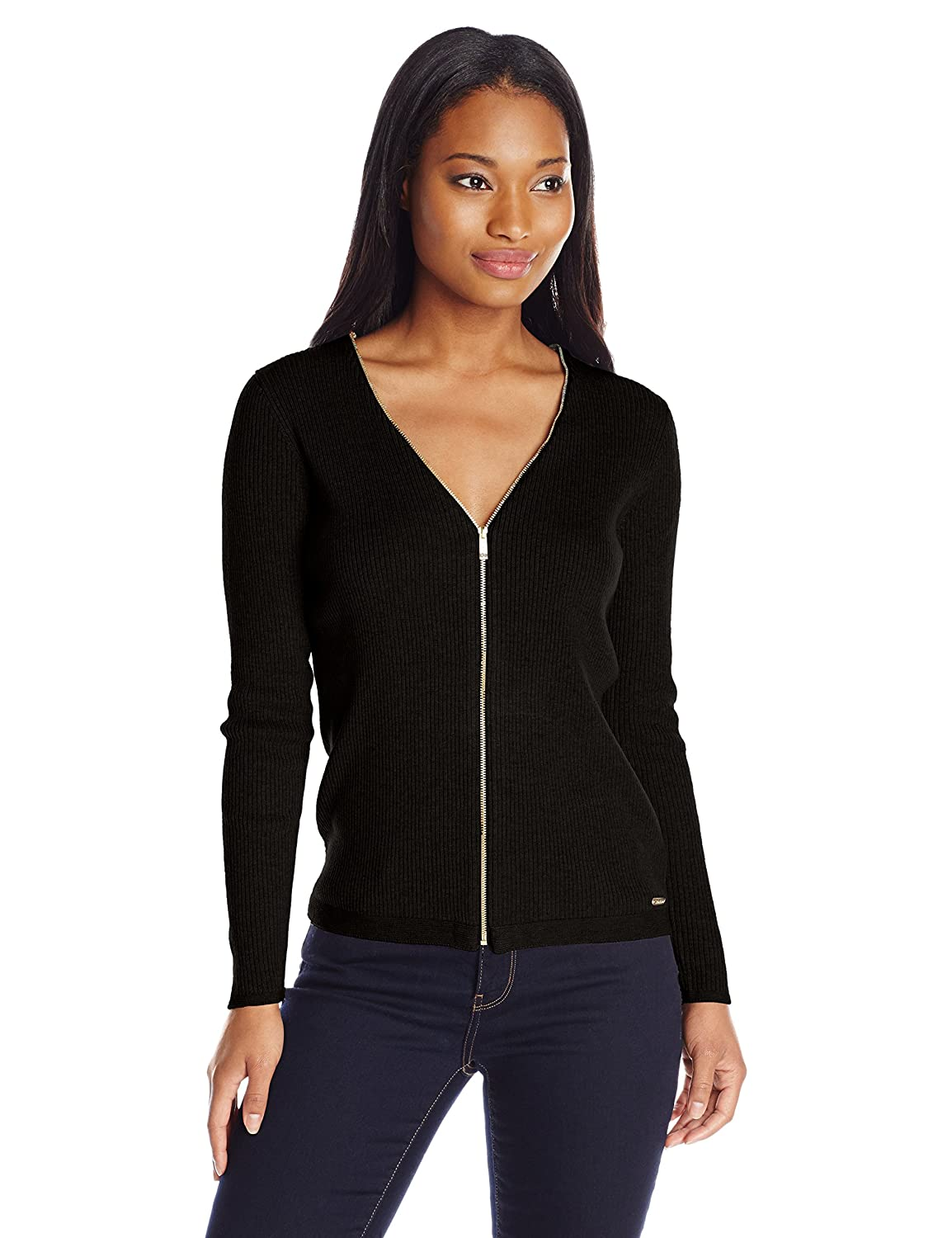 Ribbed Zipper Cardigan at Amazon Women's Clothing store: Cardigan ...