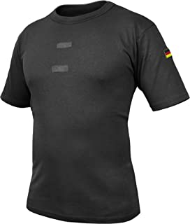 7837827da1 normani Bundeswehr Tropen T-Shirt mit Deutschlandfahnen und Klettstreifen