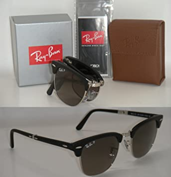 7bfd2607fcf Ray Ban Folding Clubmaster Rb 2176 901sm8 51mm Matte Black Polarized Grey  Gradient  Amazon.ca  Sports   Outdoors