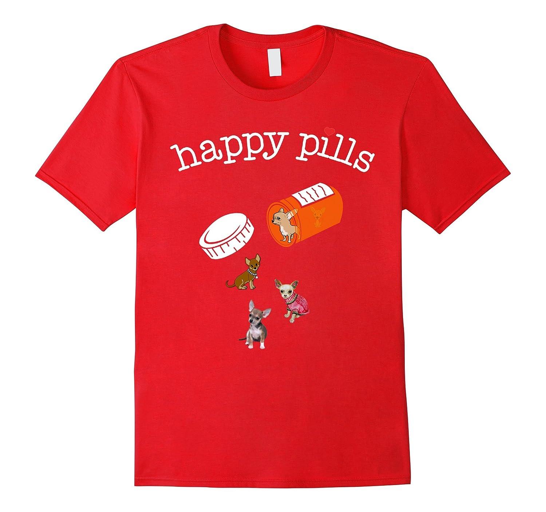 Chihuahua - happy pills T-shirt-Art