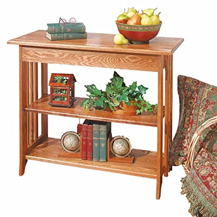 Renovators Supply Sofa Table With Storage Unfinished Oak Bookshelf Kit