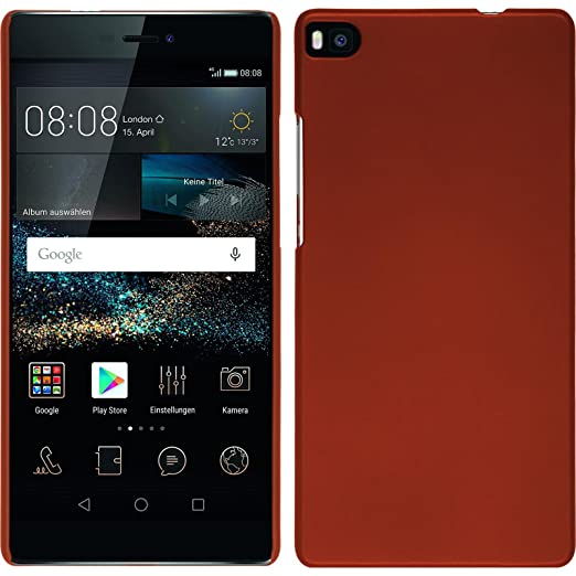 43 opinioni per Custodia Rigida per Huawei P8- gommata rosso- Cover PhoneNatic + pellicola
