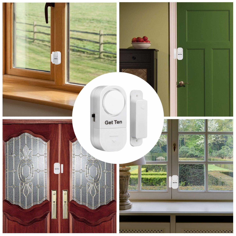 GetTen 10Pcs Wireless Home Door Window Burglar DIY Safety Security ALARM System Magnetic Sensor by GetTen (Image #6)