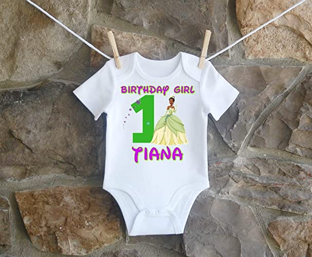 Princess Tiana Birthday Shirt For Girls Personalized And The Frog Customized