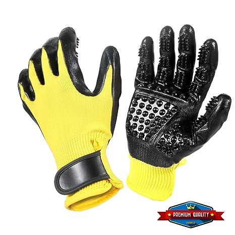 Pet Ninja Glove Pet Grooming Glove, Amazingly cat Glove, Gentle Deshedding Brush Glove - Efficient Pet Hair Remover Mitt - Enhanced Five Finger Design ...