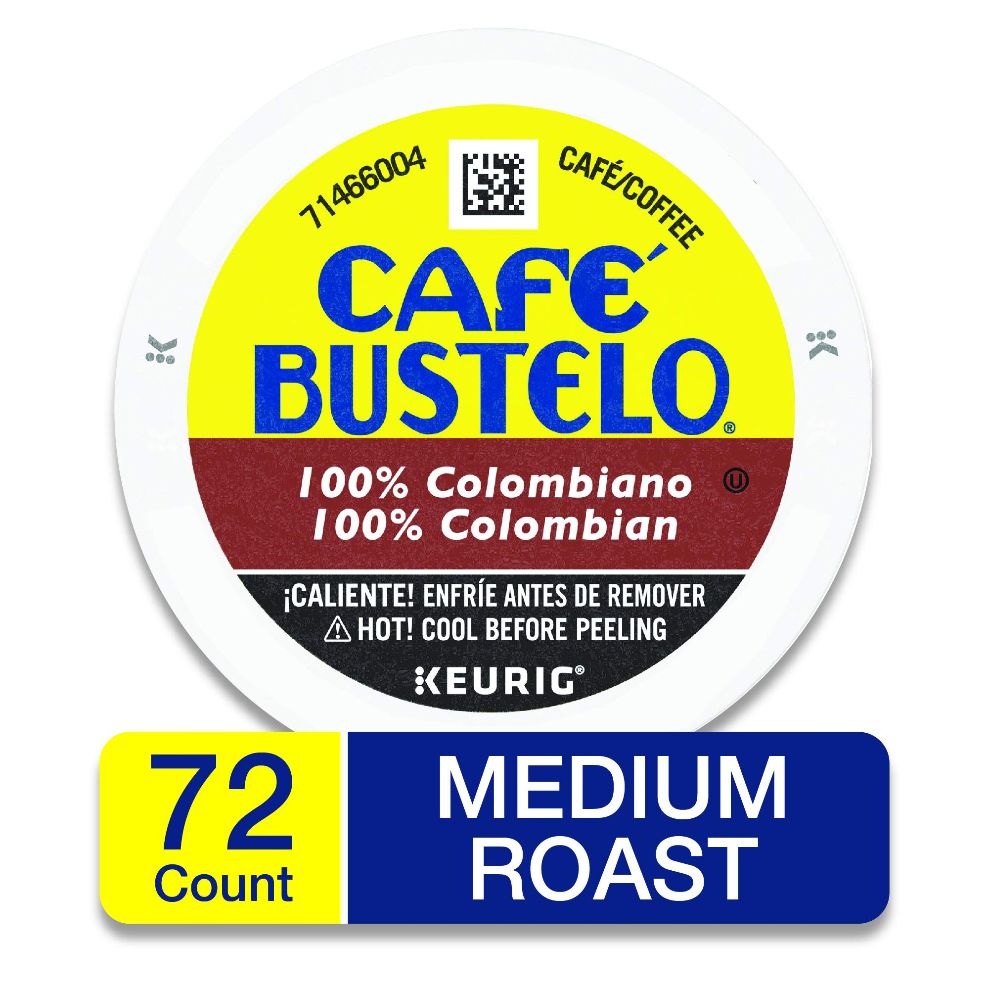 Café Bustelo 100% Colombian Medium Roast Coffee, 72 K Cups for Keurig Makers by Café Bustelo