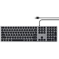 Satechi Aluminum USB Wired Keyboard with Numeric Keypad - Compatible with iMac Pro, iMac, 2018 Mac Mini, 2018 MacBook…