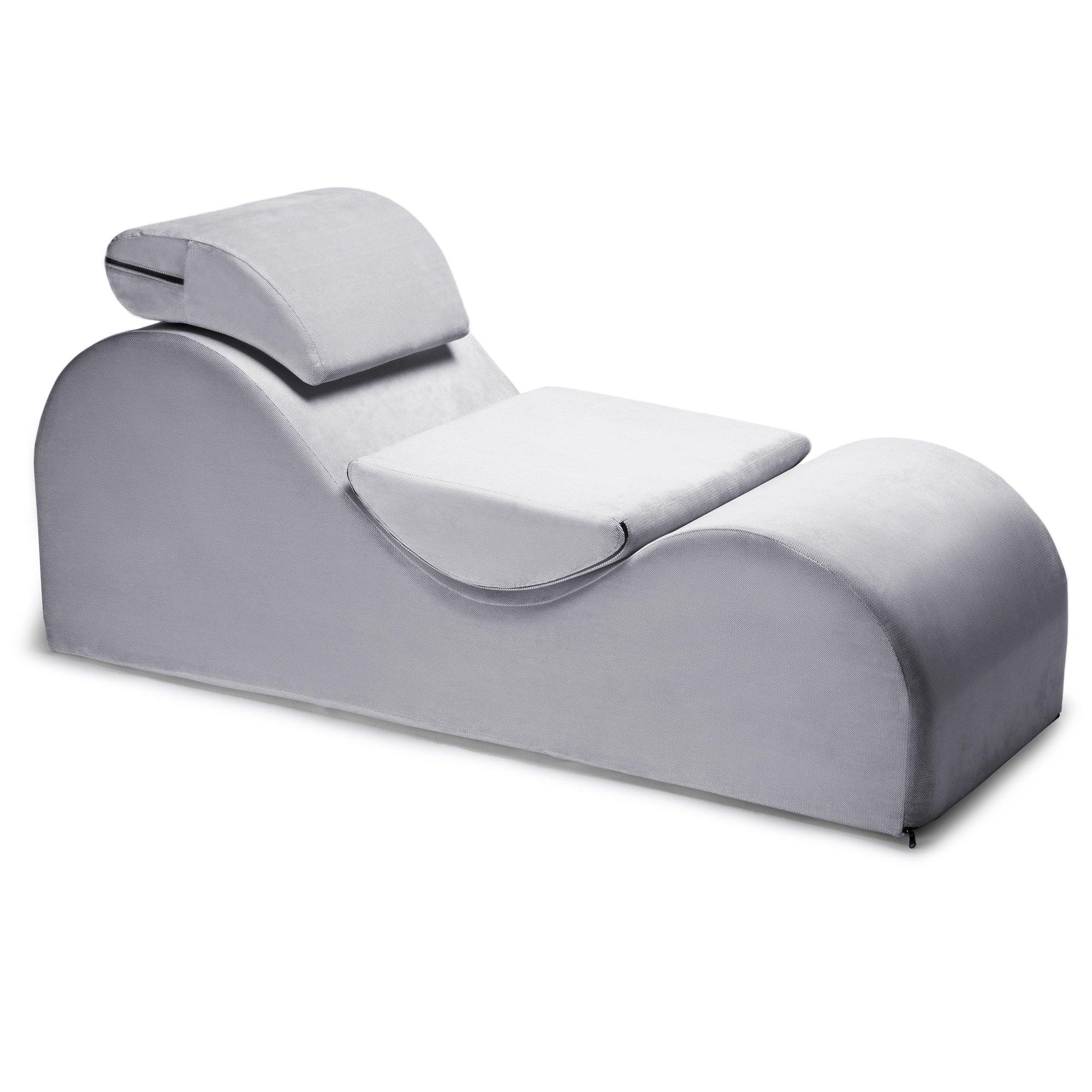 Liberator Esse Lounge Chair, Platinum Velvish