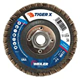 Weiler 51204 Tiger X Flap Disc, Ceramic and