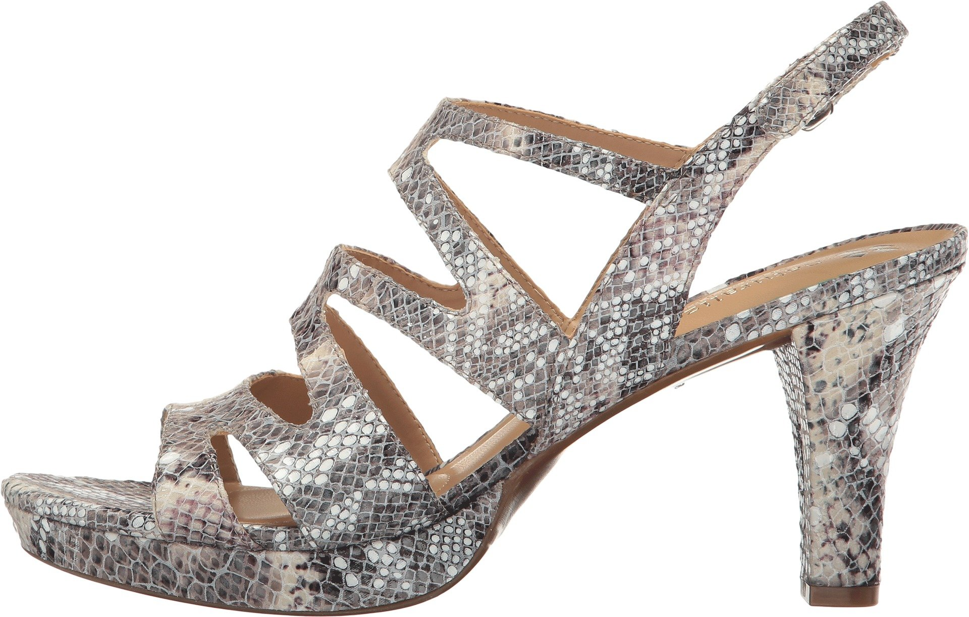 12ad1376b240 Galleon - Naturalizer Women s Pressley Grey Snake Sandal