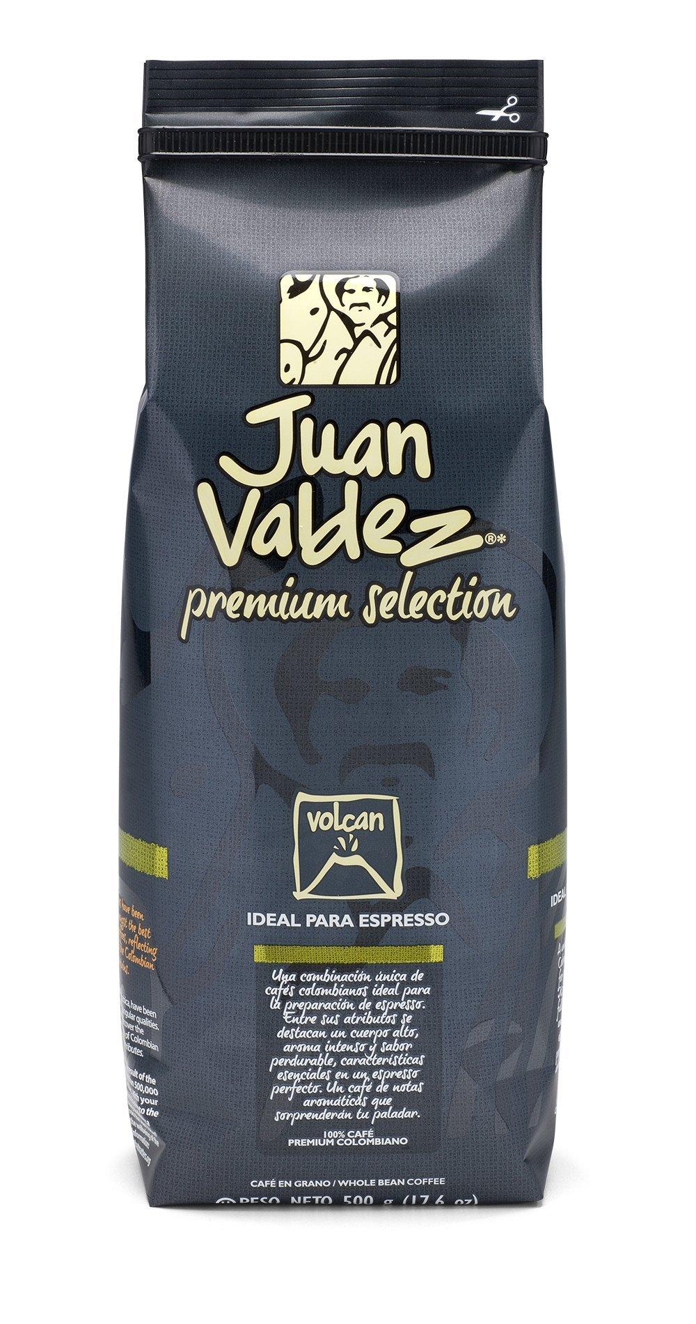 Juan Valdez Premium Strong Colombian coffee, Volcan Whole Bean, 17.6 oz
