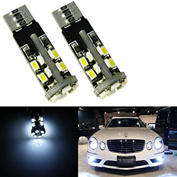 Xenon Blanco error Can-bus gratuito 22-SMD W5 W 2825 bombillas LED para luces de estacionamiento Mercedes: Amazon.es: Coche y moto